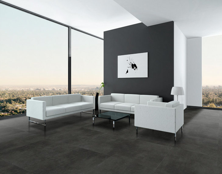 carrelage sol imitation b ton arte del bagno. Black Bedroom Furniture Sets. Home Design Ideas